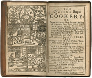 T Hall's The Queen's Royal Cookery, from 1713, valued at between £700-900.
