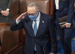 Senate minority leader Chuck Schumer at the Capitol last week.