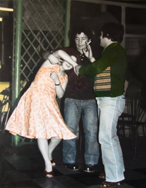 Pareja bailando, bar calle San Diego, Santiago, Chile, 1981 / 2009