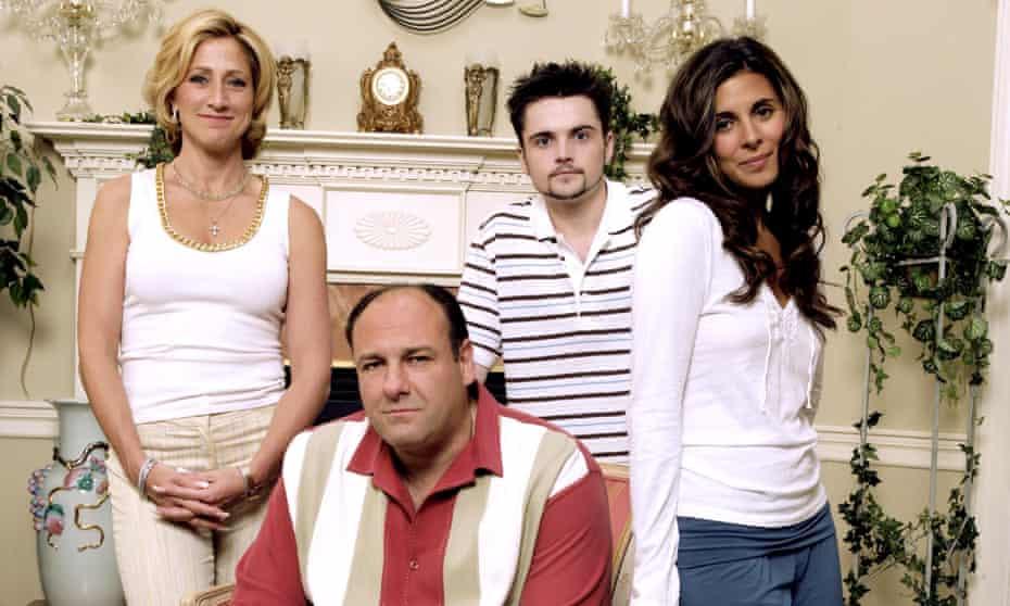 Edie Falco, James Gandolfini, Robert Iler and Jamie-Lynn Sigler in The Sopranos, still yet to be surpassed.