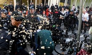 Police use capsicum spray