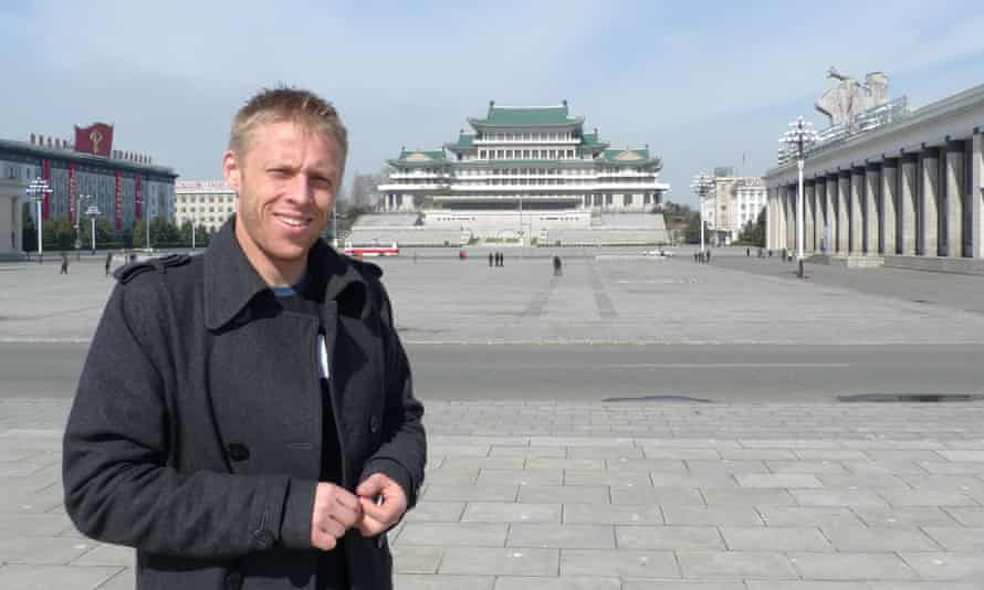 'Staying in North Korea too long will mess with your mind.' Gunnar Garfors in Kim Il-sung square, Pyongyang