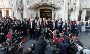 Businesswoman Gina Miller makes a statement outside the supreme court as a lead claimant in the article 50 case. The court ruled that parliament's consent is required before Brexit can begin.