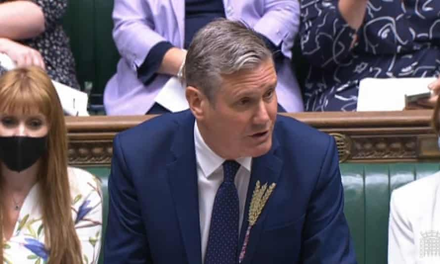 Sir Keir Starmer speaks during Prime Minister's Questions