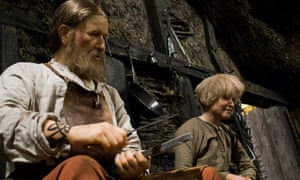 Blacksmith and his apprentice at the Jorvik centre in York.
