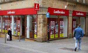 A Ladbrokes betting shop in Bradford city centre.