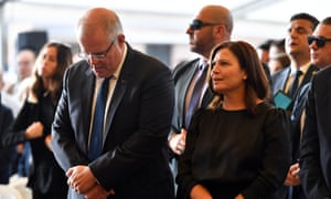 Scott Morrison and his wife, Jenny, at Good Friday services