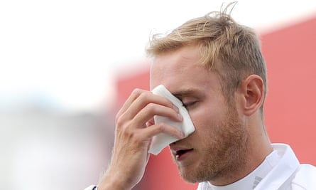 Stuart Broad suffered a broken nose after being hit by India's Varun Aaron in 2014.
