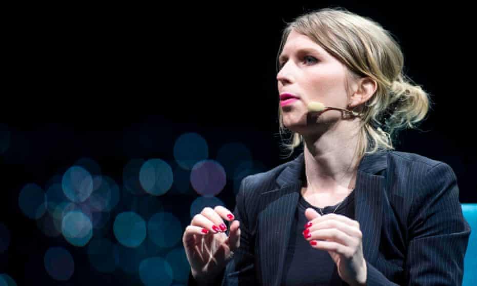Chelsea Manning speaks during the C2 conference in Montreal, Quebec, in May 2018.