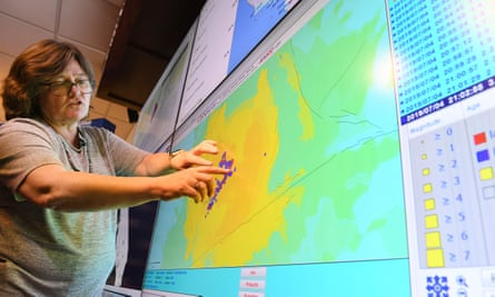 Seismologist Lucy Jones speaks at a media briefing on the California earthquake.