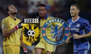 The goalkeeper Matej Delac and midfielder Nemanja Matic, right, are among the players loaned by Chelsea to Vitesse Arnhem, and the youth team graduate Lewis Baker is with the Dutch club this season.