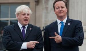 Boris Johnson and David Cameron, whose rivalry has dominated media debate surrounding the EU vote.