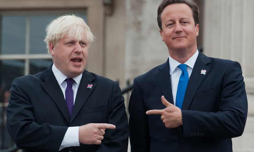 David Cameron and Boris Johnson in happier times. The two have been spotted out and about together in New York.