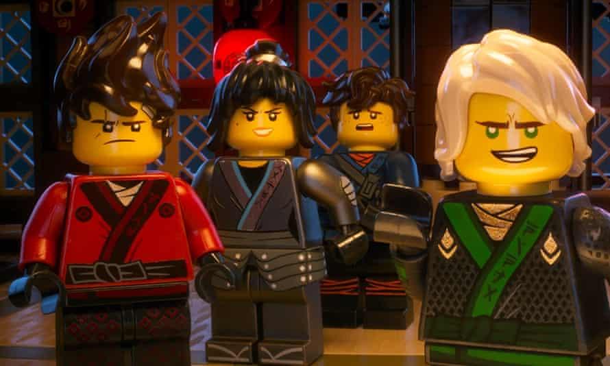 Animated mayhem … The Lego Ninjago Movie.