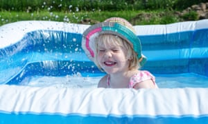 'Let me guess; you filled your paddling pool on the first day of the heatwave, and still haven't emptied it.'