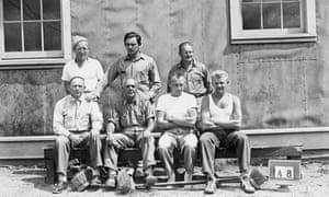 Prisoners at internment camp in Kananaskis, Alberta, 1941.