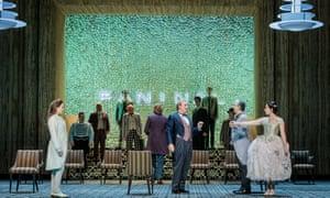 """""""Octavian (Kate Lindsey), Herr Faninal (Michael Kraus) and Sophie (Elizabeth Sutphen) in Der Rosenkavalier at Glyndebourne 2018"""""""