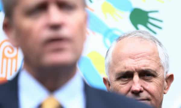 Bill Shorten with Malcolm Turnbull. Neither man has led his party into an election before