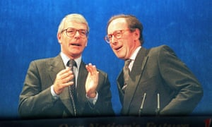 Malcolm Rifkind (right) pictured in October 1995, when he was foreign secretary in the government of John Major (left).