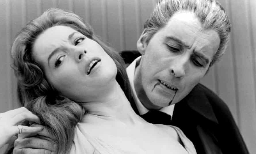 Barbara Shelley and Christopher Lee in Dracula: Prince of Darkness (1966).