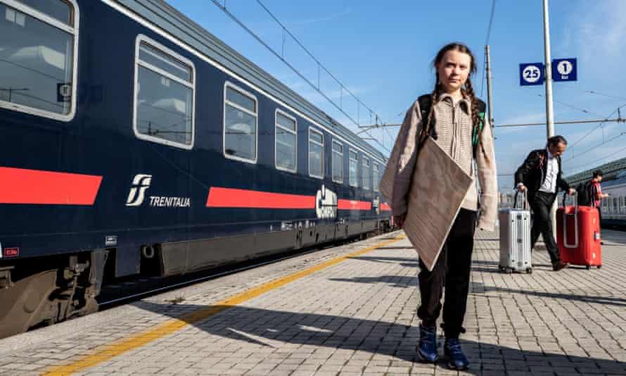 The Swedish schoolgirl climate activist Greta Thunberg refuses to fly