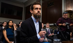 Twitter chief executive Jack Dorsey – complete with popped collar – on Capitol Hill.