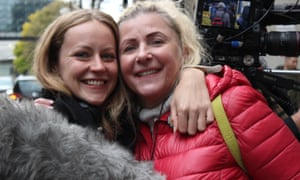 United Voices film-maker Hazel Falck with union member Vitalija