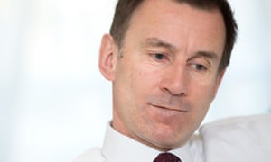 Secretary of state for health, Jeremy Hunt
