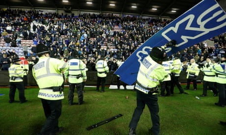 Wigan's shock win over Manchester City sparks angry scenes at DW Stadium
