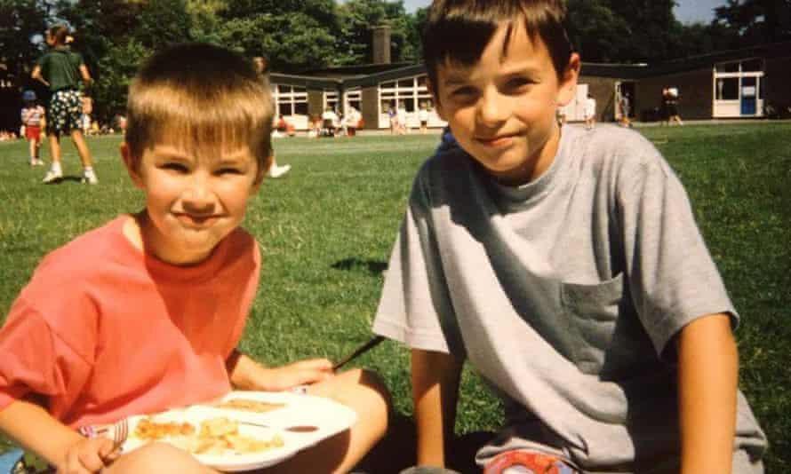 Martyn and Dan Hett, as children on a picnic.