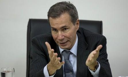 Alberto Nisman talks to journalists in Buenos Aires