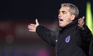 Kevin Dillon watches his Aldershot side lose 5-2 at Dagenham and Redbridge in 2009.