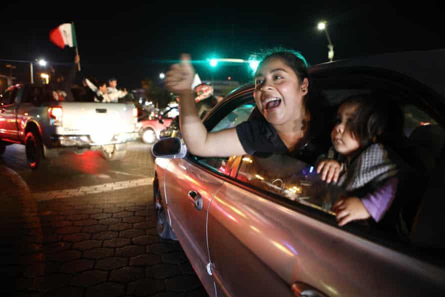 Celebrations in the border city of Tijuana.