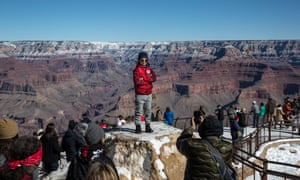 The Grand Canyon's South Rim (pictured) is often heaving with tourists, but there's plenty of spots to find solitude.