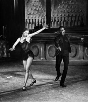 Mitchell danced for the NYCB under famed choreographer George Balanchine. Here Mitchell is with Suzanne Farrell in the NYCB's 1968 production of Balanchine's ballet Slaughter on Tenth Avenue