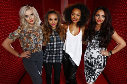 Little Mix in Sydney, Australia, in 2013: (from left)) Perrie Edwards, Jade Thirlwall, Leigh-Anne Pinnock and Jesy Nelson.
