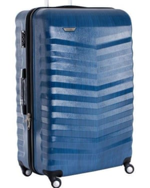 The type of blue suitcase carried by Abedi