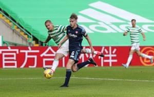 Patryk Klimala of Celtic scores number five.