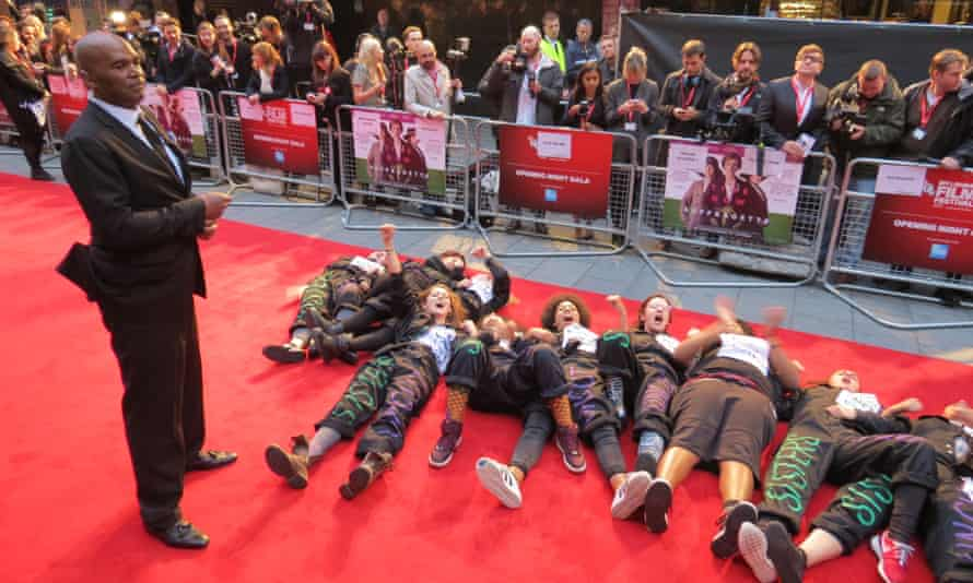 Protesters invade the red carpet at the Suffragette premiere