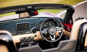 Inside story: the interior of the all-new Mazda MX-5 will be instantly recognisable to anyone who is familiar with the brand