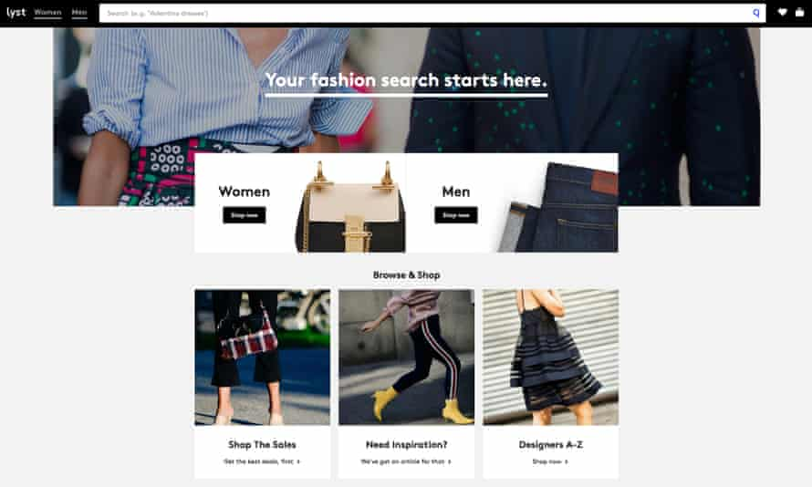 Lyst fashion search site