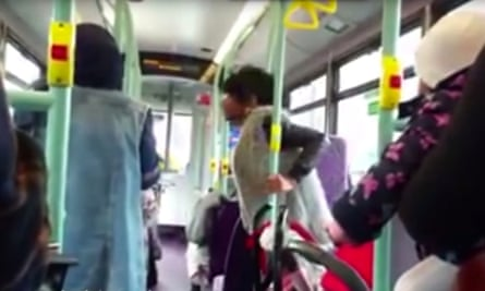 Video footage shows Simone Joseph shouting abuse at Muslim women on a London bus in October.