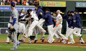 The Houston Astros won Game 5 early on Monday morning
