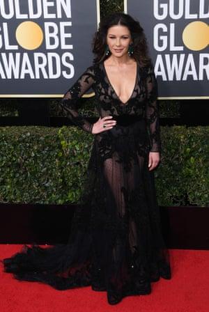 Catherine Zeta-Jones 75th Annual Golden Globe Awards, Arrivals, Los Angeles, USA - 07 Jan 2018