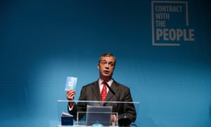 Nigel Farage launches the Brexit party's 'contract with the people' in London