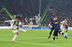 Cuadrado hits one.