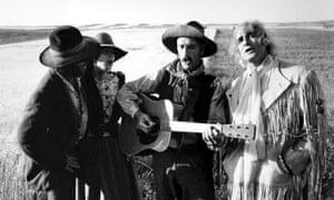Jack Nicholson, Kathleen Lloyd, Harry Dean Stanton and Marlon Brando in The Missouri Breaks,1976
