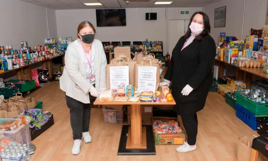 Kim Brigdale, left, and Joanna Murphy, prepare lunches at Hillingdon Crisis Support Service
