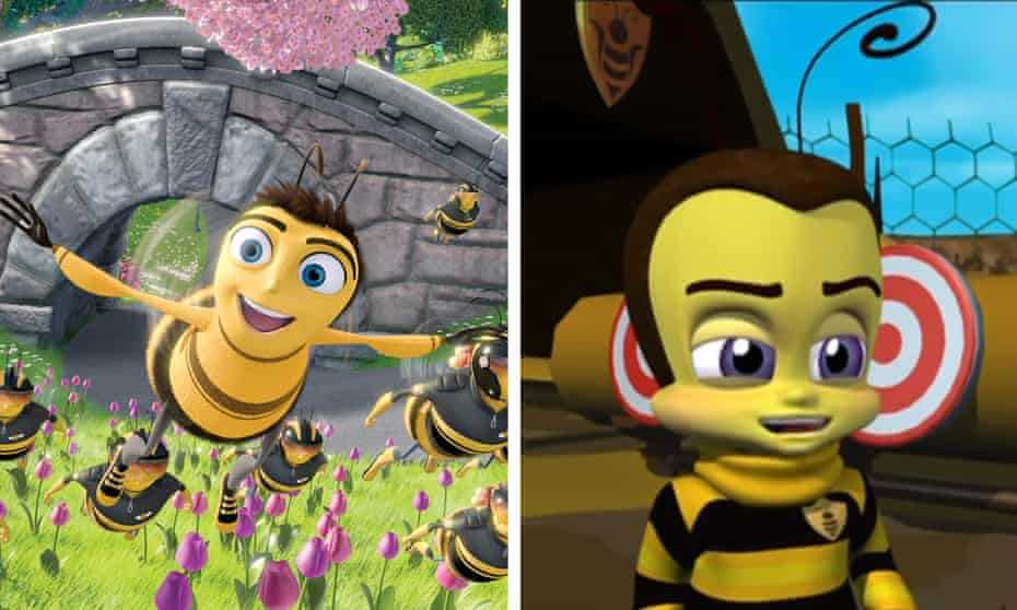 Similar buzz … Little Bee, right, was released two years after DreamWorks' Bee Movie