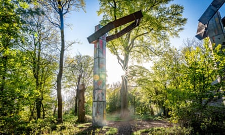 Quarry, a permanent site-specific installation by Phyllida Barlow at Jupiter Artland